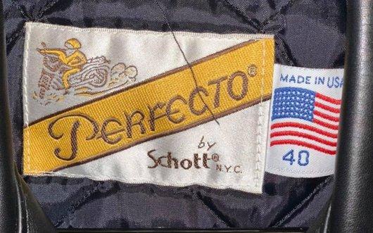 Label inside a Schott jacket