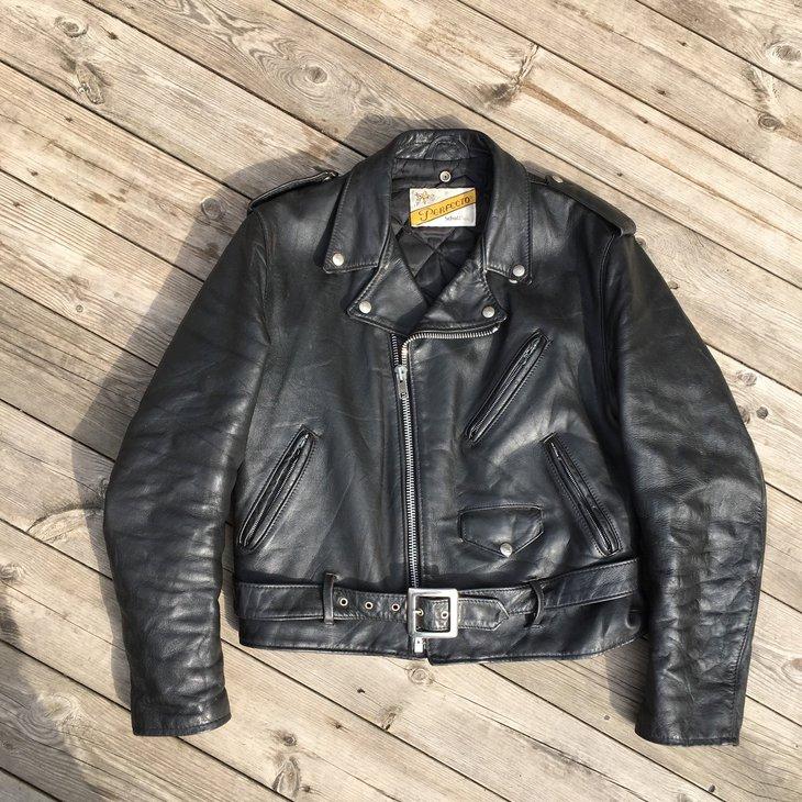 Black Schott leather jacket