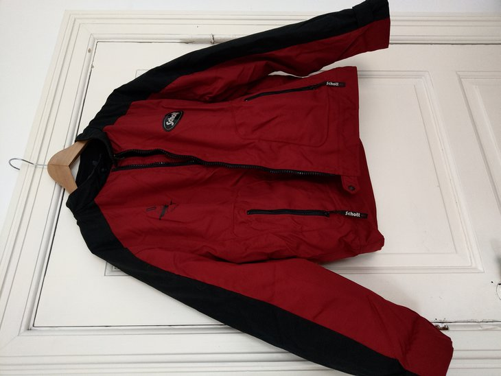 Red jacket with black