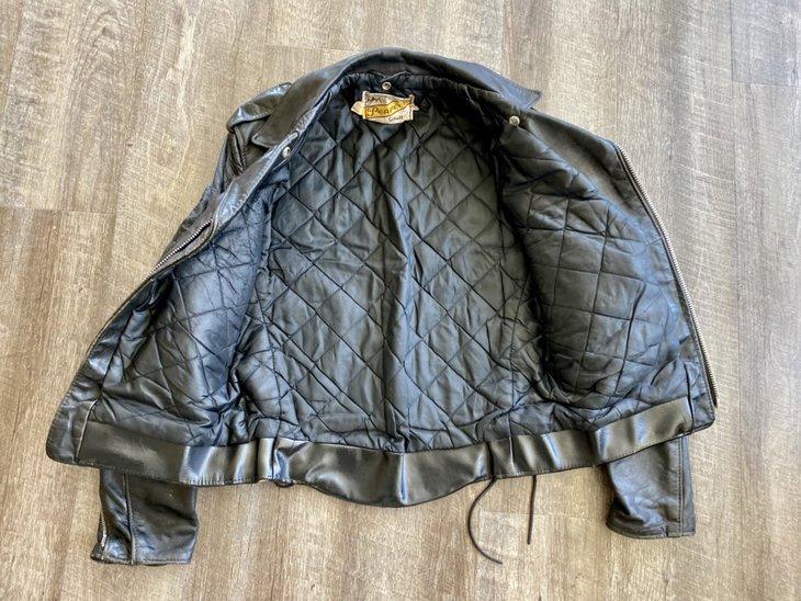 Vintage leather jacket, inside