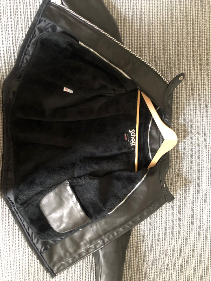 jacket open showing zipped in liner