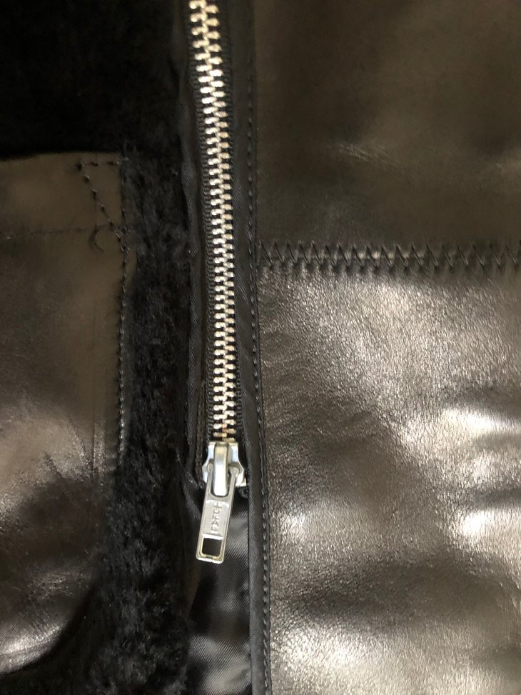 inside liner zipper detail