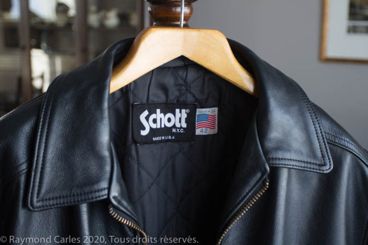 Schott black leather jacket - Schoot tag