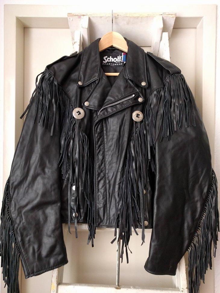 Schott Sportswear fringe jacket, size 40, front