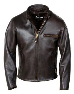 141 - Classic Racer Leather Motorcycle Jacket