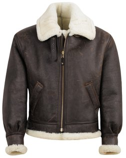 fb2acccd754 257S - Classic B-3 Sheepskin Leather Bomber Jacket