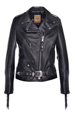 526W - Women's Fringed Motorcycle Jacket