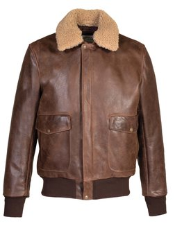 9c3e591dcc Style 594 Brown Front View. 594. NAKED BUFFALO BOMBER JACKET
