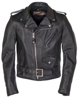 618 - Classic Perfecto Steerhide Leather Motorcycle Jacket