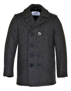 740B - Classic Melton Pea Coat in Boys Sizes