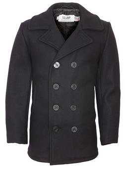 c94dc59e07b Navy Peacoat Coat - Schott NYC