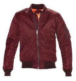 9628 - Men's Nylon Flight Jacket (Burgundy)