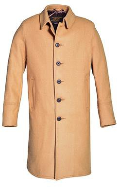 Style C729NESingle Breasted Officer's Coat Front Camel