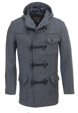 DU747 - Men's Short Duffle Coat with Hood
