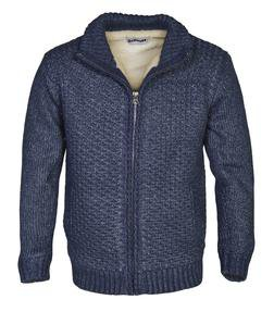 F1601C - Men's Sherpa Lined Sweater Jacket