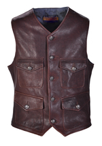 P261V - Men's Genuine Lambskin Cargo Vest