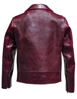 38c1b5949dd p623h Burgandy frt. P623H. HORWEEN HORSEHIDE CLEAN PERFECTO LEATHER JACKET