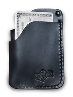 WLT3 - Three Pocket Hand Stitched Cardholder (Black)
