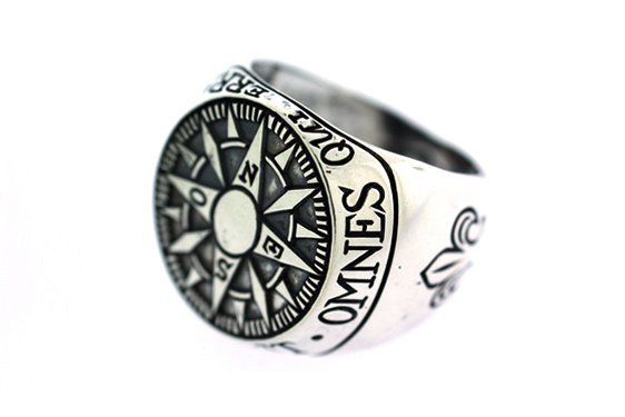 RCMPAS - Digby & Iona Compass Signet Ring (Silver)