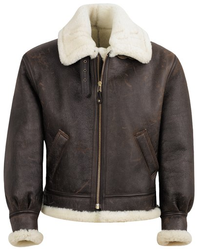 257S - Classic B-3 Sheepskin Leather Bomber Jacket