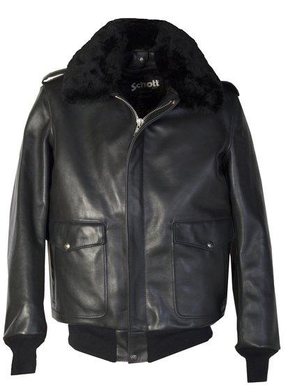 Long Flight Leather Bomber Jacket