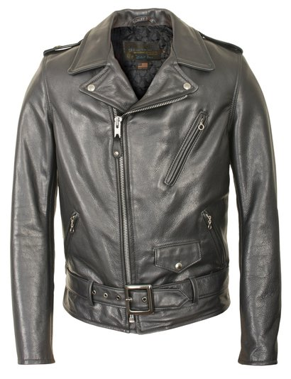 946d0f1e31d 519 - Waxy Natural Cowhide 50 s Perfecto Motorcycle Leather Jacket