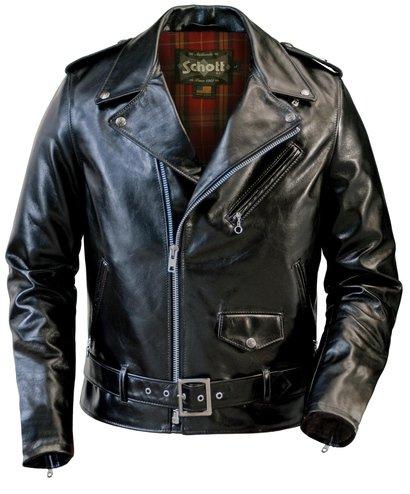 Schott 626 - Motorcycle Leather Jacket in Black or Brown