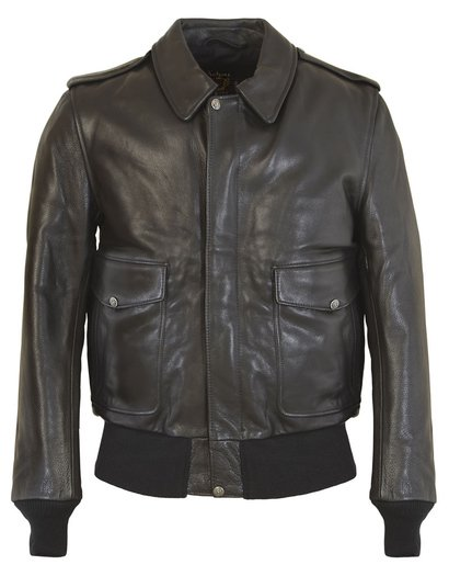 Men's A-2 Leather Flight Jacket in Soft Touch Naked Pebbled ...