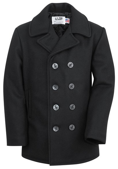 34bdcec36 Classic 32 Oz. Melton Wool Navy Men Peacoat